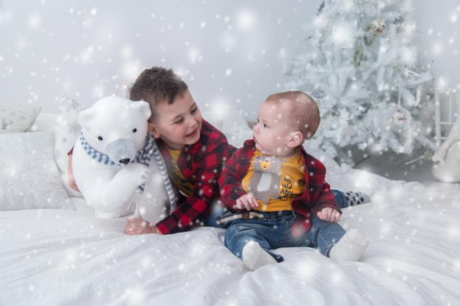Sedinta Foto Craciun pentru Copii-Tudor si Robert